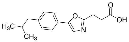 3-{5-[4-(2-Methylpropyl)phenyl]-1,3-oxazol-2-yl}propanoic Acid
