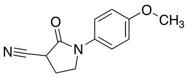 1-(4-Methoxyphenyl)-2-oxo-3-pyrrolidinecarbonitrile