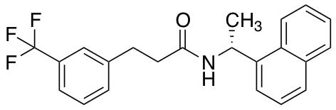 (R)-N-(1-(Naphthalen-1-yl)ethyl)-3-(3-(trifluoromethyl)phenyl)propanamide