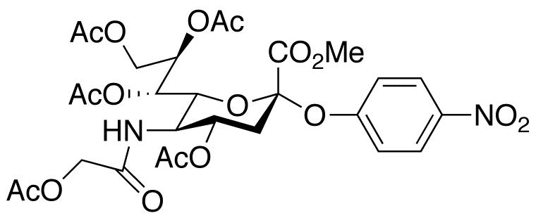 2-O-(p-Nitrophenyl)-4,7,8,9-tetra-O-acetyl-α-D-N-acetylglycolylneuraminic Acid Methyl Ester