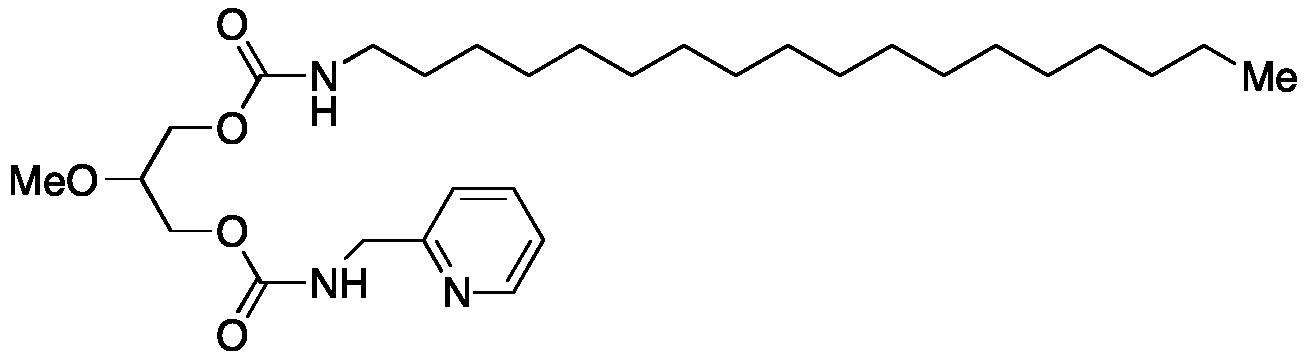 Octadecylcarbamic Acid 2-Methoxy-3-[[[(2-pyridinylmethyl)amino]carbonyl]oxy]propyl Ester