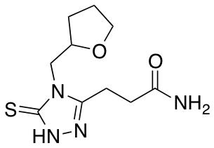 3-[4-(Oxolan-2-ylmethyl)-5-sulfanyl-4H-1,2,4-triazol-3-yl]propanamide