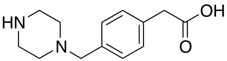 2-(4-(piperazin-1-ylmethyl)phenyl)acetic acid