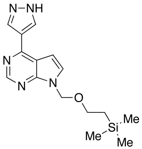 4-(1H-Pyrazol-4-yl)-7-[[2-(trimethylsilyl)ethoxy]methyl]-7H-pyrrolo[2,3-d]pyrimidine