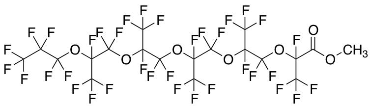 Perfluoro-2,5,8,11,14-pentamethyl-3,6,9,12,15-pentaoxaoctadecanoic Acid Methyl Ester