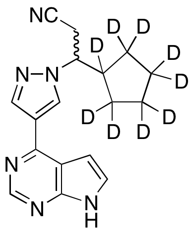 rac-Ruxolitinib-d9 (major)