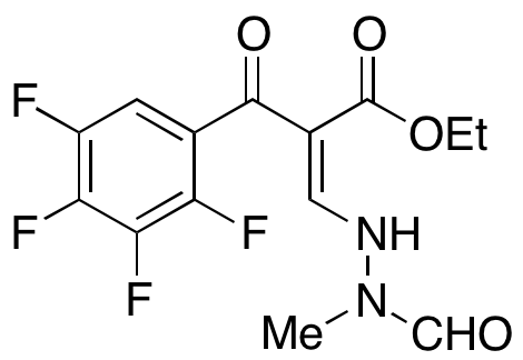2,3,4,5-Tetrafluoro-α-[(2-formyl-2-methylhydrazinyl)methylene]-β-oxobenzenepropanoic Acid Ethyl Ester