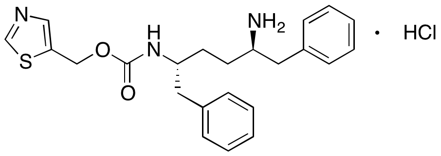Thiazol-5-ylmethyl ((2R,5R)-5-Amino-1,6-diphenylhexan-2-yl)carbamate Hydrochloride