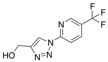 {1-[5-(Trifluoromethyl)pyridin-2-yl]-1H-1,2,3-triazol-4-yl}methanol
