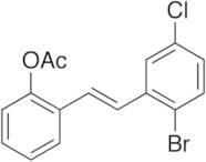 (E)-2-Acetoxy-2-bromo-5-chlorostilbene