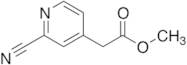 2-Cyano-4-pyridine Acetic Acid Methyl Ester
